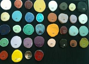 Palette de couleurs pour carrelage mural nimes
