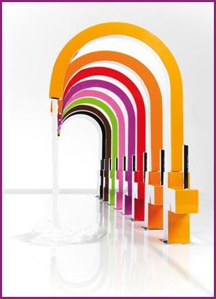 robinets design de couleur n mes. Black Bedroom Furniture Sets. Home Design Ideas