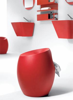 Accessoires salle de bains nimes - Accessoires salle de bain rouge ...
