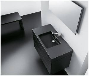 meubles salle de bains noirs. Black Bedroom Furniture Sets. Home Design Ideas