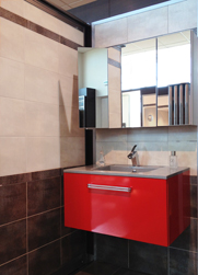 Aménagement de salle de bains : un box d'exposition chez Mouton Carrelages