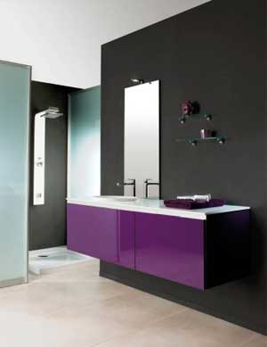 meuble salle de bain fushia. Black Bedroom Furniture Sets. Home Design Ideas